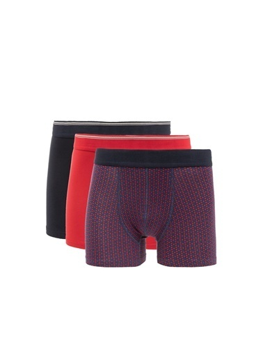 DeFacto 3'lü Hipster Boxer Seti Kırmızı